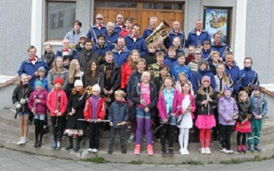 VORÞYTUR lúðrasveitanna í Ísafjarðarkirkju